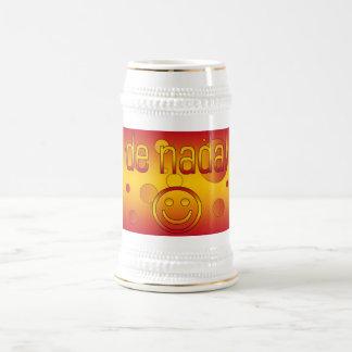 De Nada! Spain Flag Colors Pop Art Beer Stein
