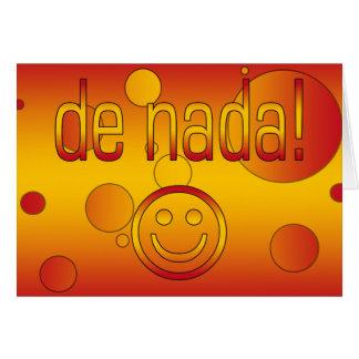 De Nada! Spain Flag Colors Pop Art Card