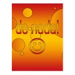 De Nada! Spain Flag Colors Pop Art Post Cards