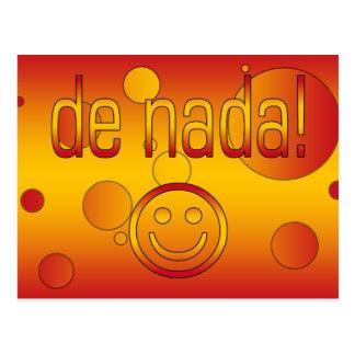 De Nada! Spain Flag Colors Pop Art Postcard