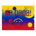 De Nada! Venezuela Flag Colors Pop Art Postcards