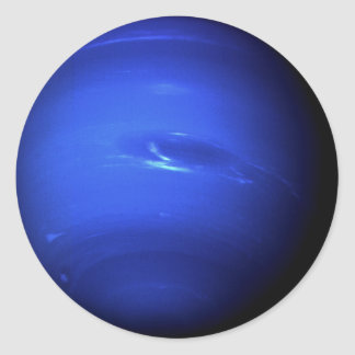 ~ de NEPTUNO del PLANETA (Sistema Solar) Pegatina Redonda