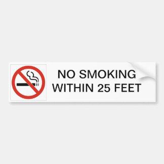 DE NO FUMADORES A 25 PIES PEGATINA DE PARACHOQUE