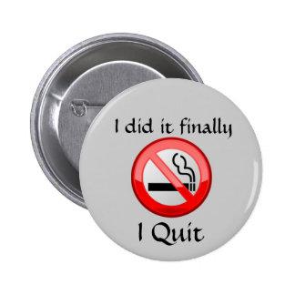 De no fumadores abandoné el botón pins