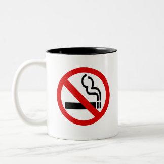 De no fumadores abandoné el fumar taza de dos tonos