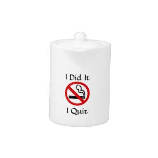 De no fumadores abandoné la tetera