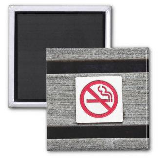 De no fumadores imán cuadrado