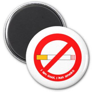 De no fumadores imán redondo 5 cm