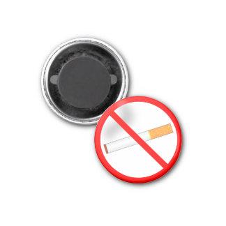 De no fumadores imán redondo 3 cm