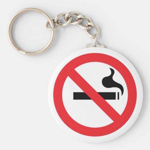 De no fumadores llavero redondo tipo pin