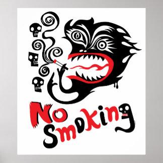 De no fumadores - monstruo poster