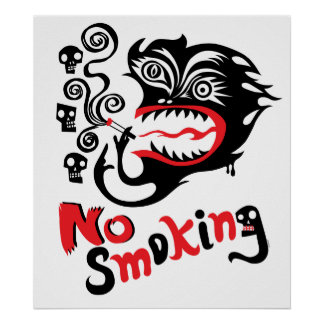 De no fumadores - monstruo póster