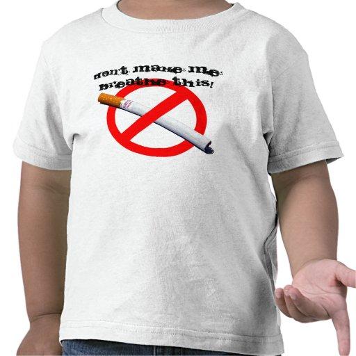 ¡de no fumadores, no haga que respira esto! camisetas