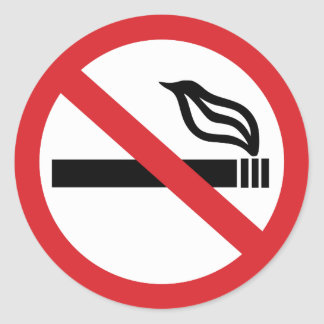 De no fumadores pegatina redonda