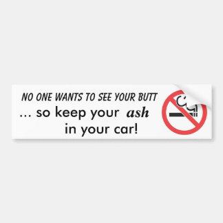 De no fumadores pegatina para auto