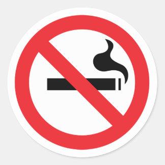 De no fumadores pegatinas redondas
