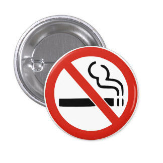 De no fumadores pin redondo de 1 pulgada