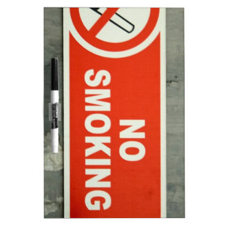 De no fumadores pizarra blanca