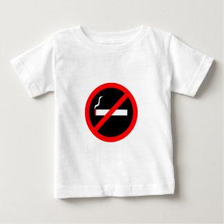 De no fumadores playera de bebé