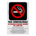 ¡DE NO FUMADORES! ¡- Por orden del decreto fascist
