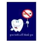 De no fumadores - sus dientes le agradecerán posta postal
