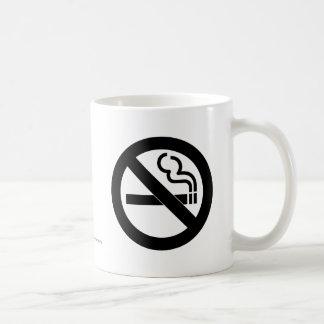 De no fumadores taza de café
