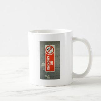 De no fumadores taza