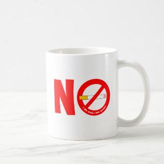 De no fumadores tazas de café