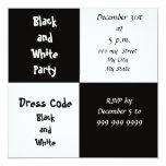 De Noche Vieja el fiesta blanco y negro del fiesta Comunicados Personalizados