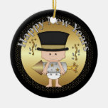 De Noche Vieja el ornamento del bebé añaden la fec Ornamentos Para Reyes Magos