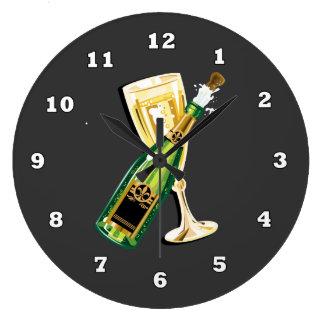 De Noche Vieja el reloj del día de fiesta