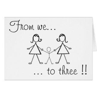 ¡De nosotros a tres!! Felicitacion