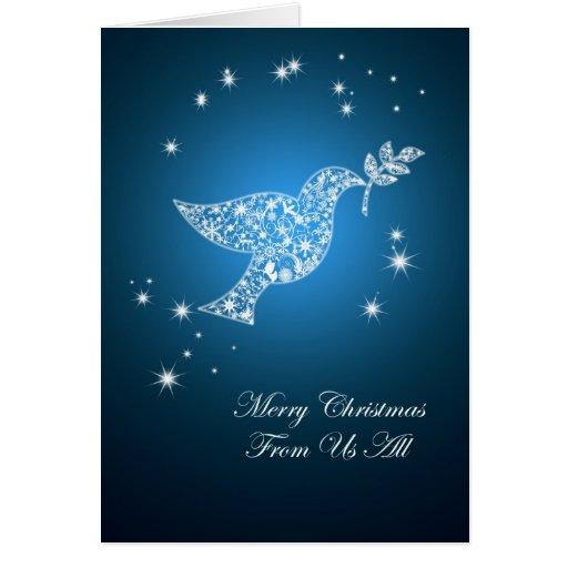 De nosotros todos, paloma de la tarjeta de Navidad