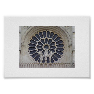 De Notre Dame cierre para arriba Poster