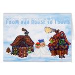 De nuestra casa el suyo tarjeta de Navidad