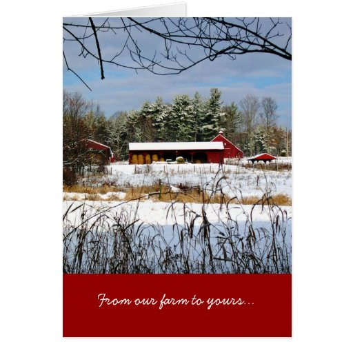 De nuestra granja el suyo, tarjeta de felicitación