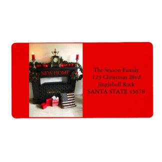 De nuestra nueva chimenea del navidad de la etiquetas de envío