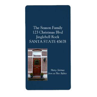 De nuestra nueva guirnalda casera del navidad etiqueta de envío