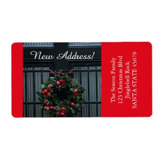 De nuestra nueva guirnalda del navidad de la etiqueta de envío