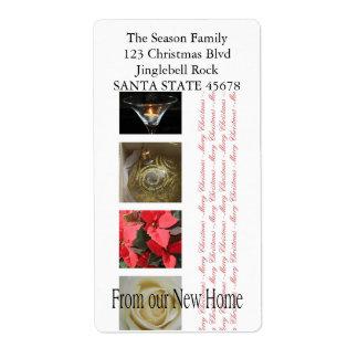 De nuestro nuevo collage casero del navidad etiqueta de envío