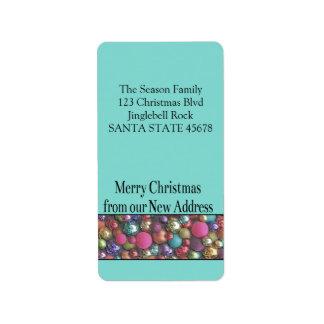 De nuestros nuevos ornamentos coloreados caseros etiquetas de dirección