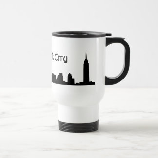 de Nueva York negro todo Tazas De Café