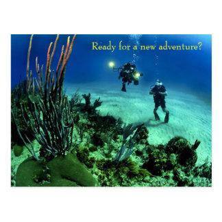 De nuevo a aventura del salto del mar profundo de tarjetas postales