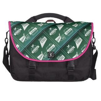 De nuevo a bolso del personalizado del diseño del  bolsa para ordenador