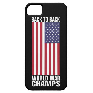 De nuevo a campeones traseros de la guerra mundial iPhone 5 Case-Mate cárcasa