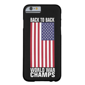 De nuevo a campeones traseros de la guerra mundial funda de iPhone 6 barely there