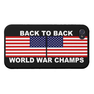 De nuevo a campeones traseros de la guerra mundial iPhone 4/4S carcasa