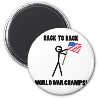 De nuevo a campeones traseros de la guerra mundial imán de frigorifico