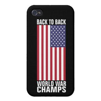 De nuevo a campeones traseros de la guerra mundial iPhone 4/4S fundas