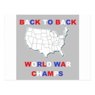 De nuevo a campeones traseros de la guerra mundial postales